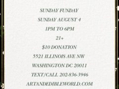 Art & Edible World Sunday Funday (DC) August 4 2019