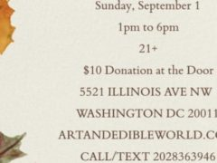 Art & Edible World Sunday Funday (DC) September 1 2019