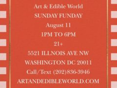 Sunday Funday Art & Edible World (DC) August 11 2019