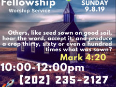 420 Fellowship Worship Service (DC) September 8 2019