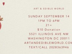 Art & Edible World Sunday Funday (DC) September 15 2019