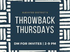 Elevated District's Throwback Thursdays (DC) September 5 2019