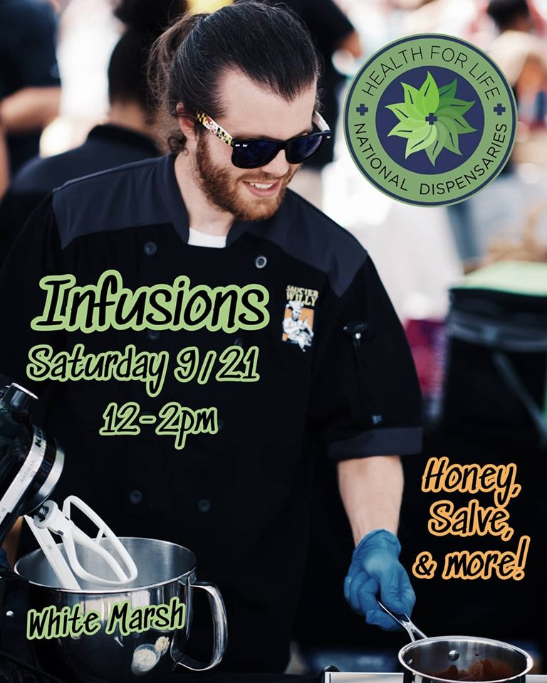 Infusion Class Hosted by Saucier Willy (MD) September 21 2019