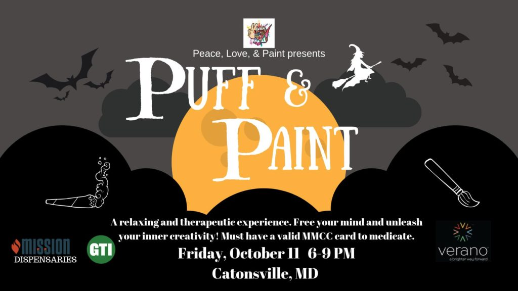 Puff and Paint Hosted by Peace Love & Paint (MD) October 11 2019