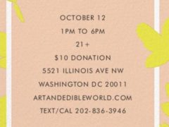 Art & Edible World Saturday (DC) October 12 2019