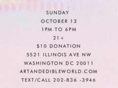 Art & Edible World Sunday Funday (DC) October 13 2019