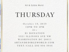 Art Edible World Thursday (DC) October 10 2019