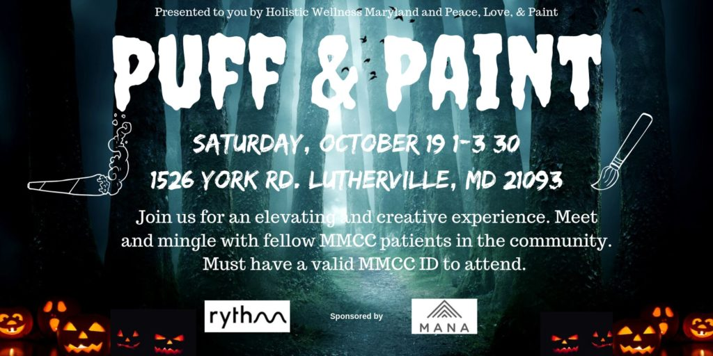Puff and Paint Hosted by Holistic Wellness Md (MD) October 19 2019