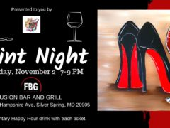 Red Bottoms Paint Night Hosted by Peace Love & Paint (MD) November 2 2019