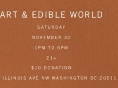 Art & Edible World Saturday (DC) November 30 2019