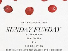 Art & Edible World Sunday Funday (DC) November 10 2019