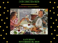 Cannasseur clubluxe Presents Danksgiving Deals on Wheels (DC) November 30 2019