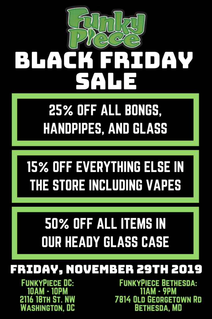 FunkyPiece Black Friday Sale (DC MD) November 29 2019