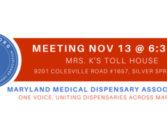 Maryland Medical Dispensary Association Membership Meeting (MD) November 13 2019