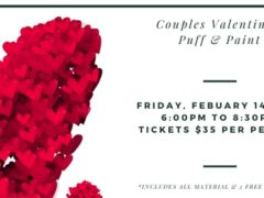 Couples Valentine Paint Puff by Art & Edible World (DC) February 14 2020