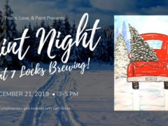 Paint Night at 7 Locks Brewing by Peace Love and Paint (MD) December 21 2019