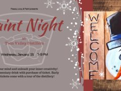 Paint Night at Twin Valley Distillers by Peace Love and Paint (MD) January 15 2020