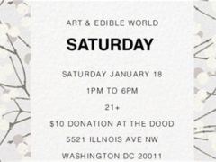 Art & Edible World Saturday (DC) January 18 2020