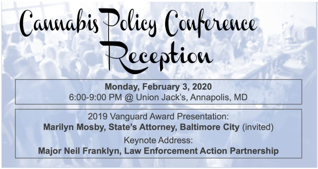Cannabis Policy Conference Reception by Maryland NORML (MD) February 3 2020