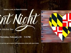 Paint Night at Anchor Bar by Peace Love and Paint (MD) February 20 2020