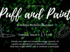 Puff and Paint at Holistic Wellness MD Hosted by Peace Love & Paint (MD March 5 2020