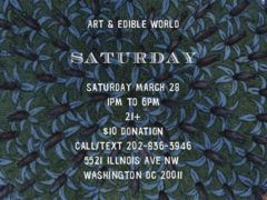 Art & Edible World Saturday (DC) March 28 2020