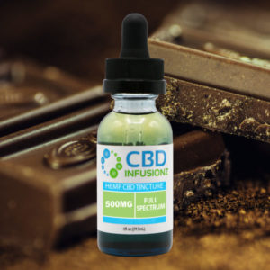 CBD Infusionz 500 Full Spectrum Hemp Oil CBD Tincture Chocolate