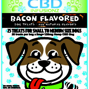 CBD Infusionz Natural CBD Dog Treats Bacon Small to Medium Size Breeds