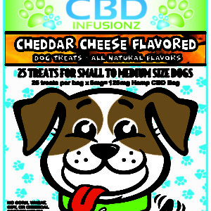 CBD Infusionz Natural CBD Dog Treats Cheddar Cheese Small to Medium Size Breeds