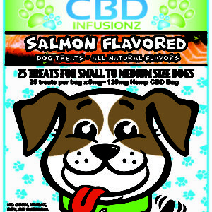 CBD Infusionz Natural CBD Dog Treats Salmon Small to Medium Size Breeds