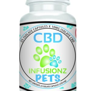 CBD Infusionz PET CBD Capsules 250mg Broad Spectrum CBD