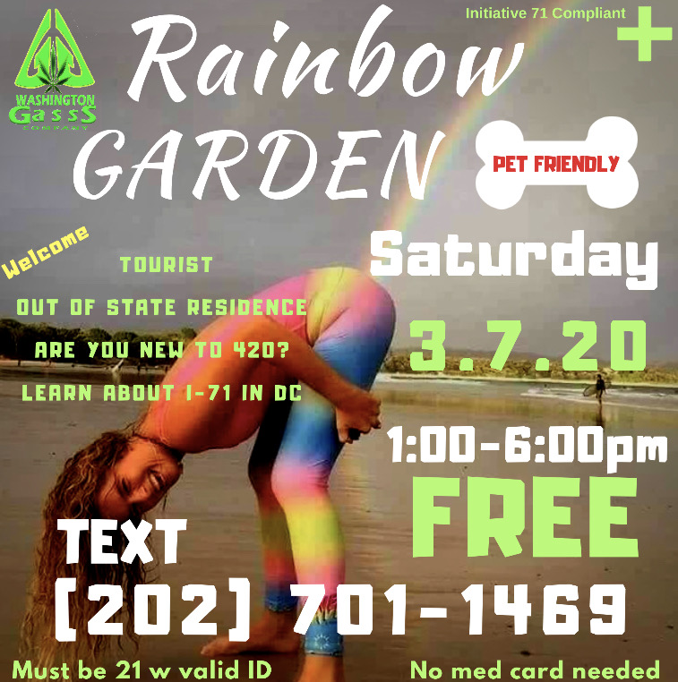 DC Rainbow Cannabis Garden (DC) March 7 2020