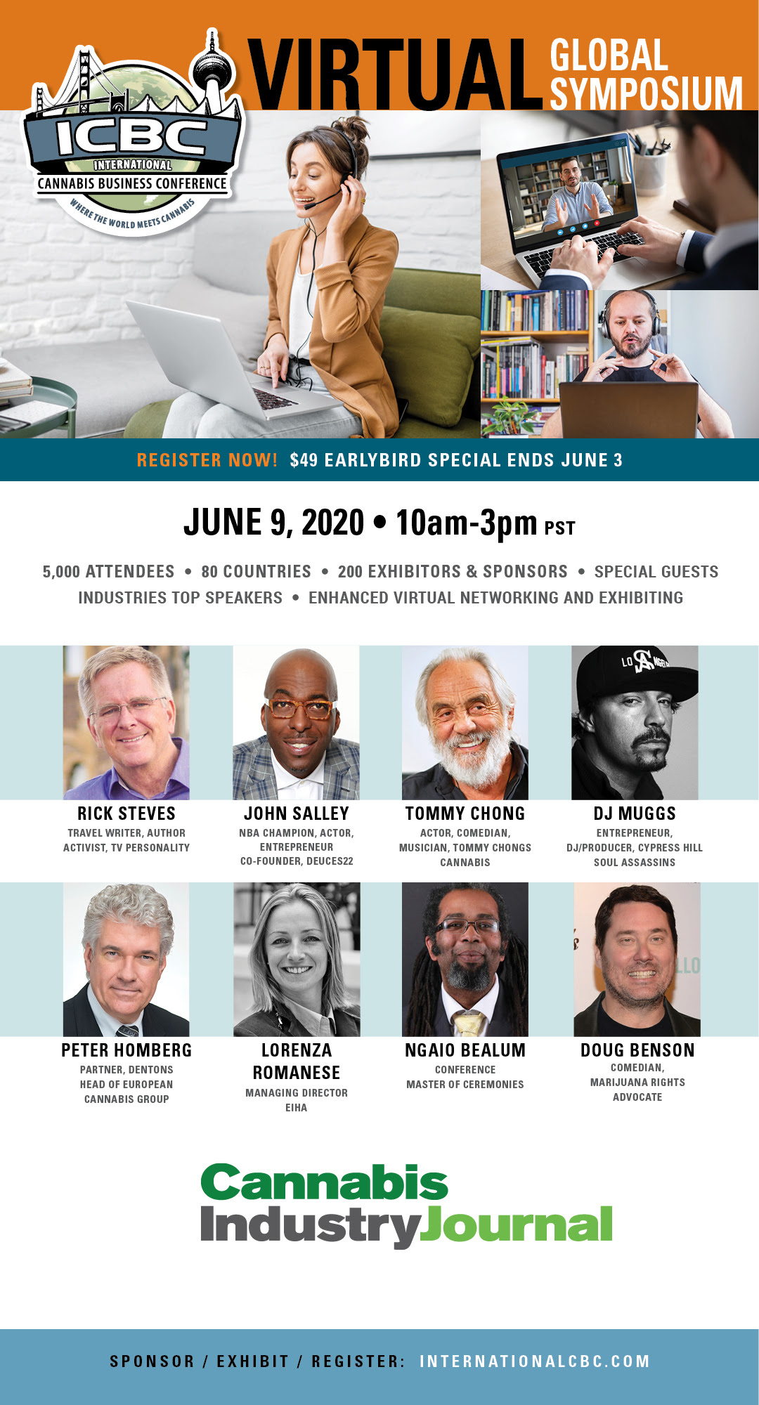 Virtual International Cannabis Business Conference (online) June 9 2020