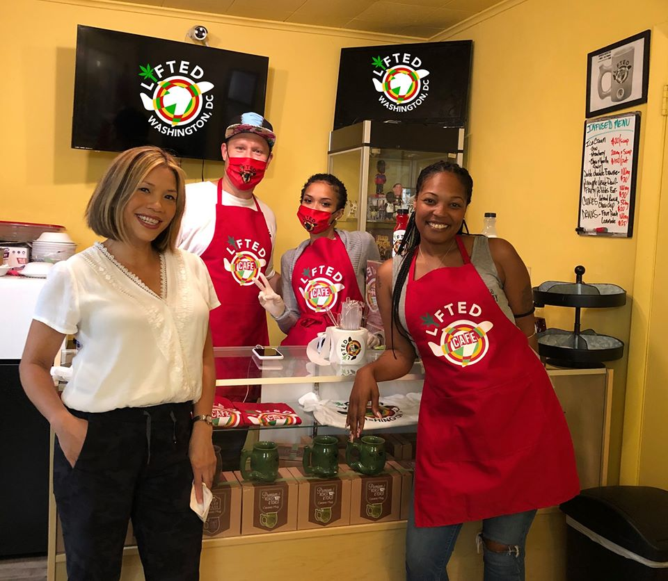 Grand Opening DC's 1st Canna Café- The Lifted Café (DC) August 7 2020