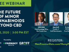 Webinar The Future of Minor Cannabinoids (online) July 22 2020