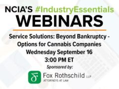 Beyond Bankruptcy - Options for Cannabis Companies (online) September 16 2020