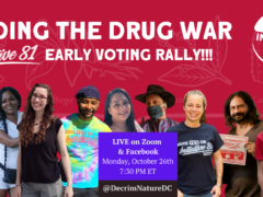 Ending the Drug War Early Voting Rally (online) October 27 2020