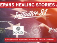 Veterans Healing Stories Initiative 81 by Decriminalize Nature DC (online) October 7 2020