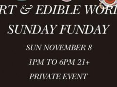 Art & Edible World Sunday (DC) November 8 2020
