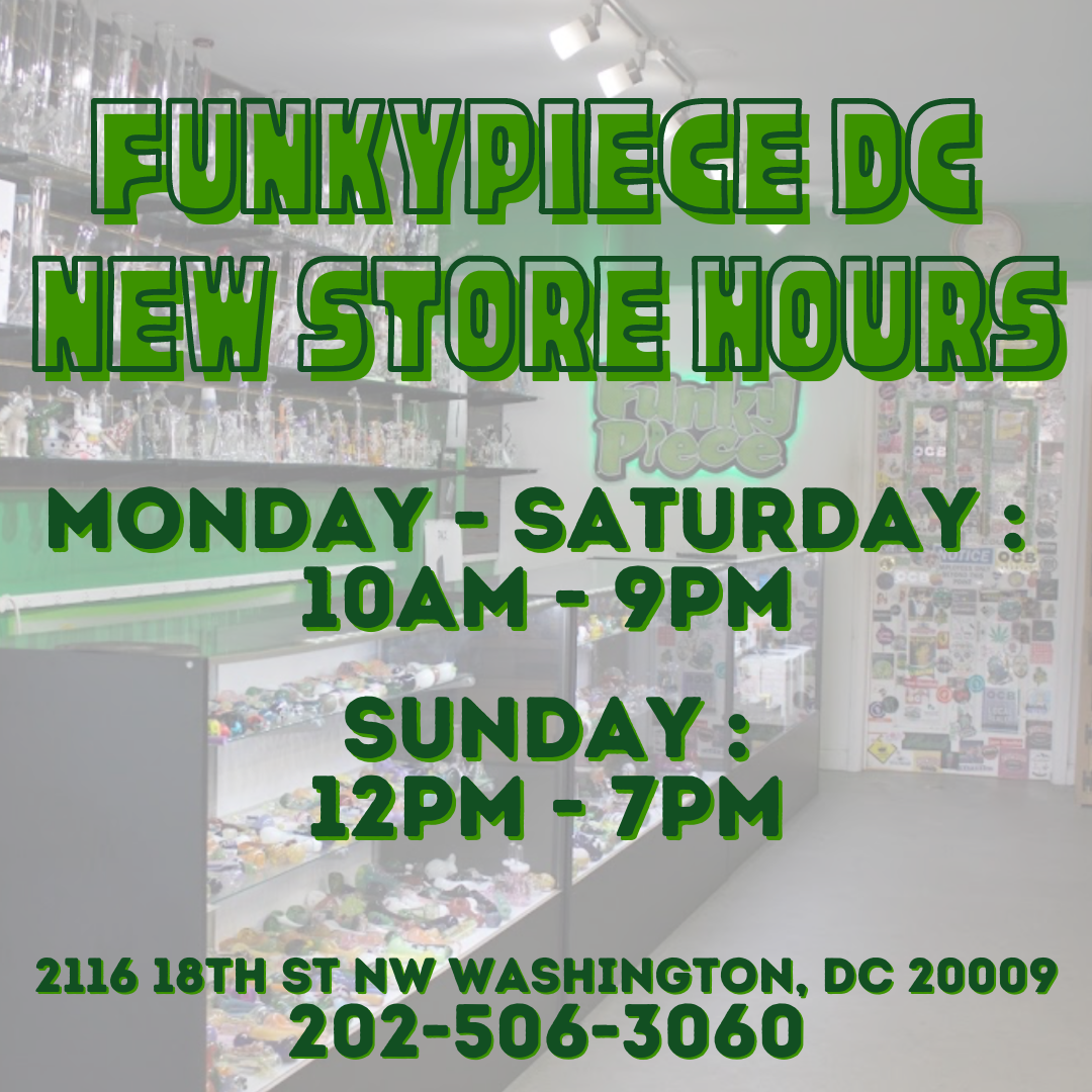 FunkyPiece DC New Store Hours!