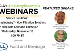 How Filtration Solutions Can Help with Cannabis Extraction by NCIA (online) November 18 2020