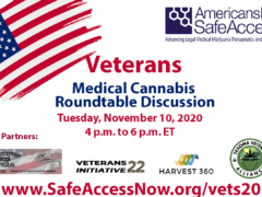 Veterans and Medical Cannabis Roundtable Discussion (online) November 10 2020