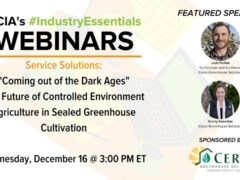 The Future of Controlled Environment Agriculture in Sealed Greenhouse Cultivation (online) December 16 2020