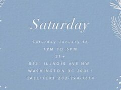 Art & Edible World Saturday (DC) January 16 2021