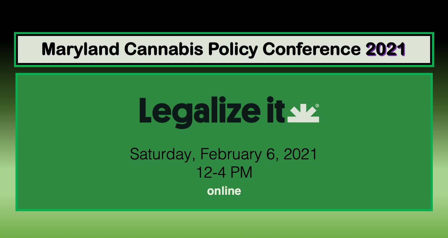 MD NORML Maryland Cannabis Policy 2021 (online) February 6 2021